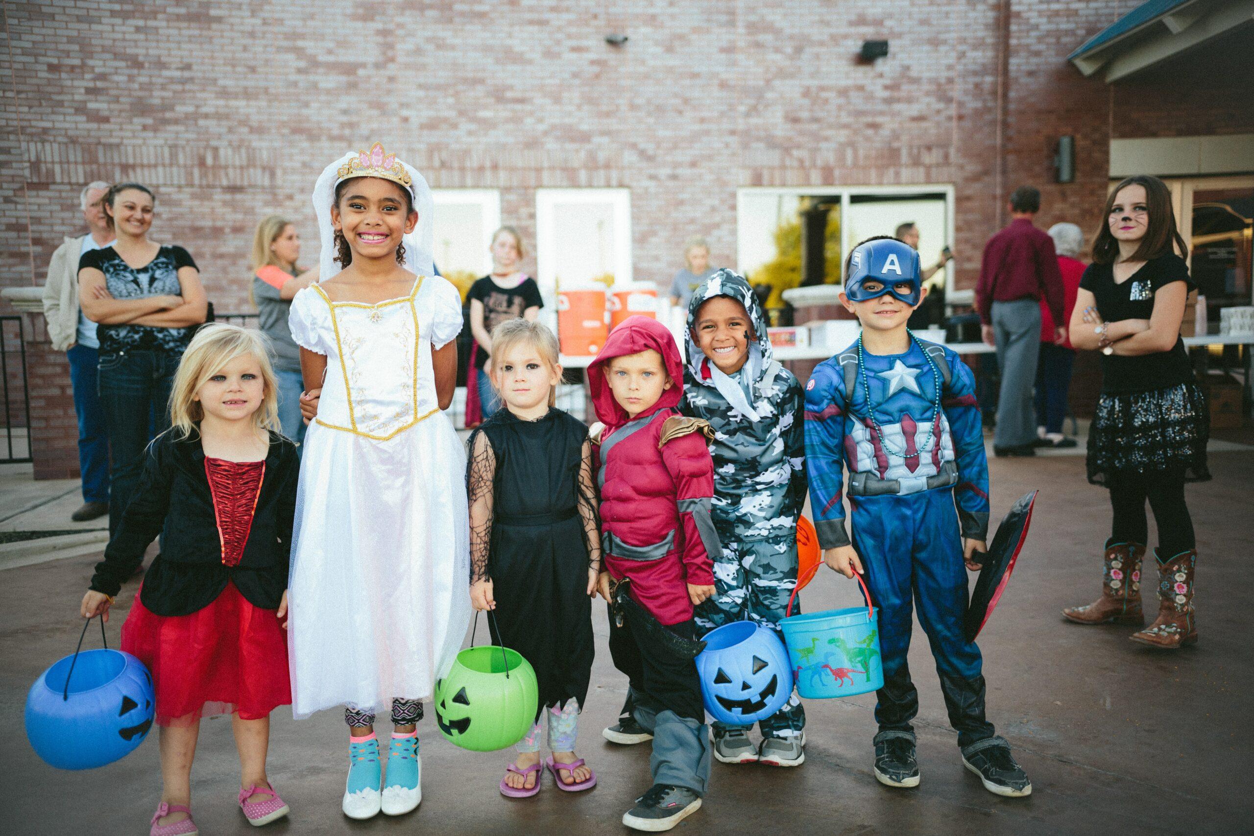 chasse aux bonbons pour Halloween