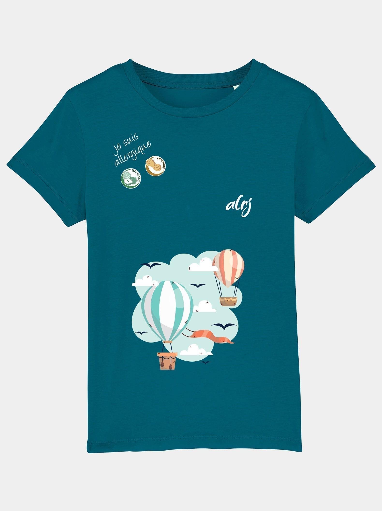 t-shirt alrj allergies alimentaires montgolfiere ocean